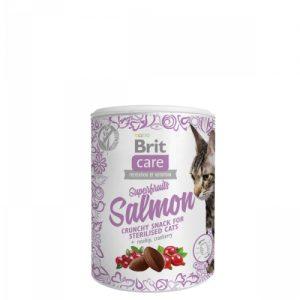 BRIT CARE SNACK SUPERFRUITS SALMON CAT