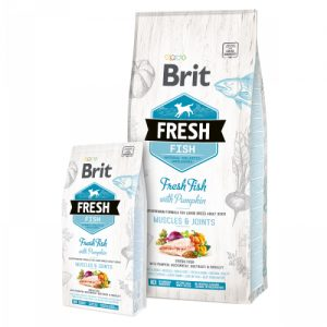 BRIT FRESH FISH WITH PUMPKIN ADULT LARGE MUSCLES JOINTS