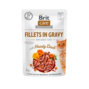 Brit Care Cat Pouch HEARTY DUCK in Gravy