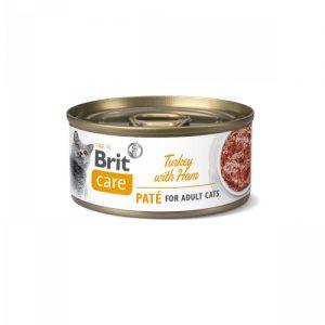 BRIT CARE CAT TURKEY PATE WITH HAM
